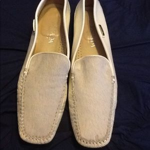 Escada Fur/Patent Leather Loafers